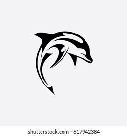 dolphin icon to logo animal