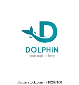 Dolphin Initial D Logo Template