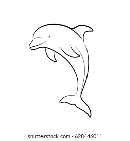 Dolphin sketch images stock photos vectors shutterstock dolphin line art doodle a hand drawn vector cartoon illustration of a cute dolphin thecheapjerseys Choice Image