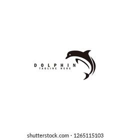 dolphin logo animal with modern logo free vector