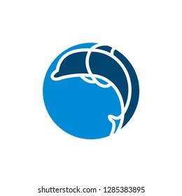 Dolphin Logo Design Icon Template