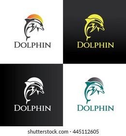 Dolphin logo design template ,Vector illustration