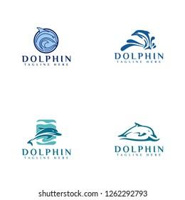 Dolphin Logo Design - Vector