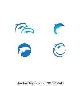 Dolphin logo icon vector template