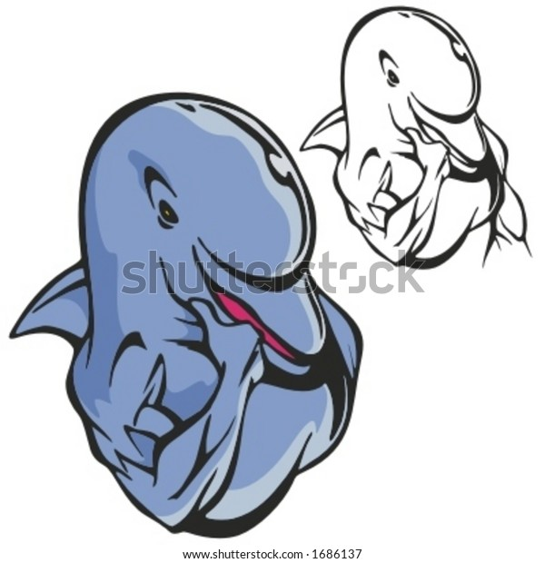 Dolphin Mascot Clipart #1439977 - Illustration by Toons4Biz