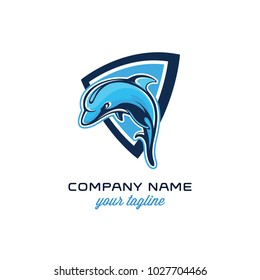 dolphin with shape logo