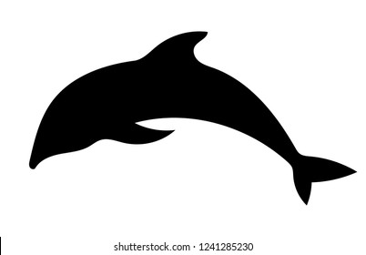 Dolphin silhouette isolated