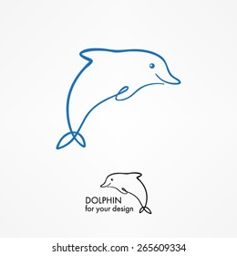 dolphin outline template