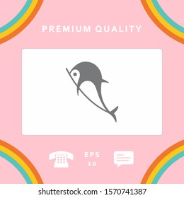 Dolphin symbol icon. Graphic elements for your design
