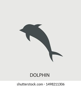 Dolphin vector icon illustration sign