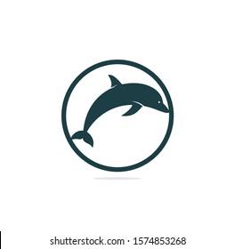 Dolphin vector logo design. Creative dolphin icon vector design template.