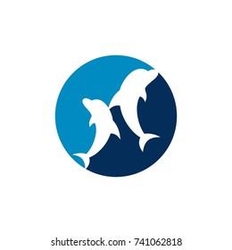 dolphin vector logo. icon vector.