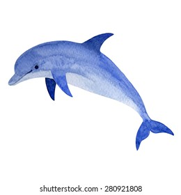 fcd9cb90e6b Dolphin in water splash. Watercolor vector element. Tattoo watercolor.  Watercolor background, water