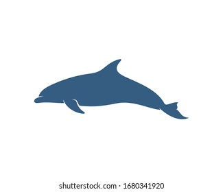 Dolphins logo design vector template. Silhouette of Dolphins design illustration