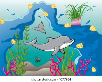 Dolphins Under Water Images, Stock Photos & Vectors ...