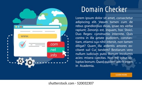Domain Checker Conceptual Banner
