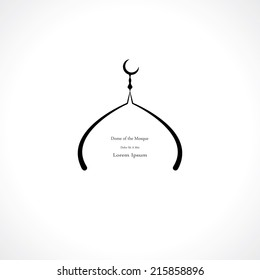 dome of the mosque abstract symbol. vector eps8