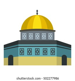 Dome of the Rock on the Temple Mount icon. Flat illustration of Dome vector icon for web design