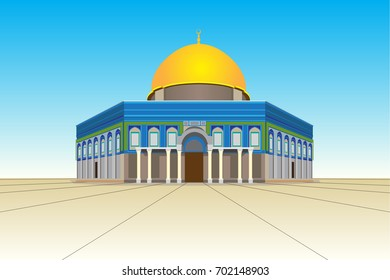 Dome of rock vector background