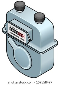 A domestic gas meter.