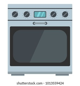 Domestic gas oven icon. Cartoon illustration of domestic gas oven vector icon for web