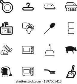 domestic vector icon set such as: empty, simple, collection, electronics, cloakroom, washer, hook, pictogram, furniture, cook, group, livestock, outline, nature, rag, device, ironing, bathroom