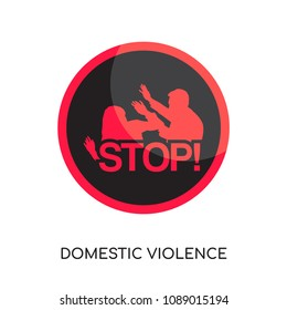 domestic violence logo isolated on white background for your web and mobile app design , colorful vector icon, brand sign & symbol for your business, domestic violence icon concept