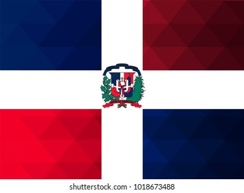 Dominican Flag vector illustration.Dominican Flag. National Flag of Dominican.