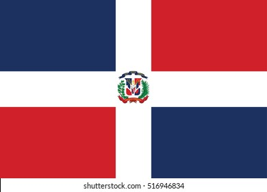 Dominican Republic flag page symbol for your web site design Dominican Republic flag logo, app, UI. Dominican Republic flag Vector illustration, EPS10.