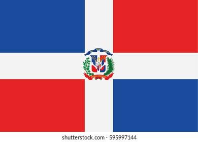 Dominican Republic flag vector