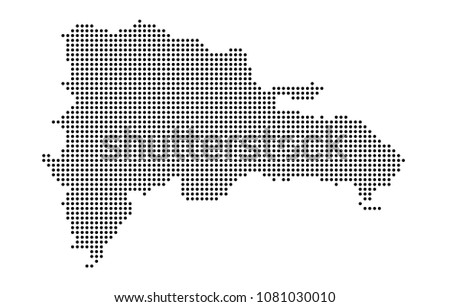 Dominican Republic Map Vector Map Dotted Stock Vector (Royalty Free ...