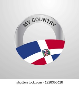 Dominican Republic My Country Flag badge