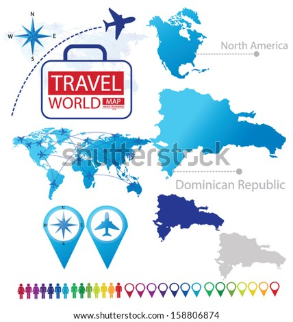 Dominican Republic North America World Map Stock Vector Royalty