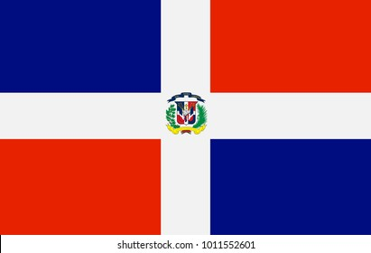 Dominican Republic state flag. Vector illustration.