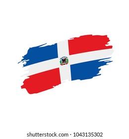 Dominicana flag, vector illustration