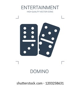 domino icon. high quality filled domino icon on white background. from entertainment collection flat trendy vector domino symbol. use for web and mobile