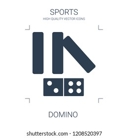 domino icon. high quality filled domino icon on white background. from sports collection flat trendy vector domino symbol. use for web and mobile
