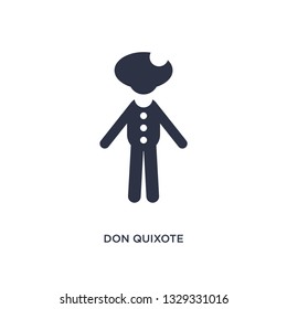 don quixote icon. Simple element illustration from literature concept. don quixote editable symbol design on white background. Can be use for web and mobile.