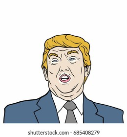 Donald Trump, 45th President of United States of America Vector Design Illustration, July 27, 2017