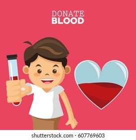 donate blood boy test tube