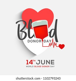 Donate Blood Concept Illustration Background For World Blood Donor Day.
