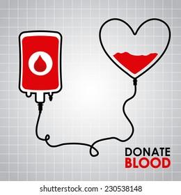 donate blood graphic design , vector illustration
