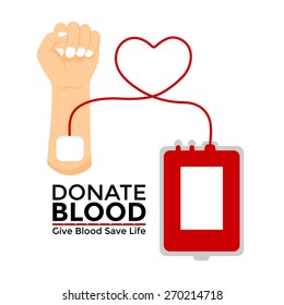 donate blood for helping human, blood donation vector illustration design