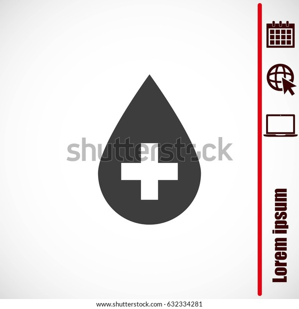 Donate drop blood  sign with cross