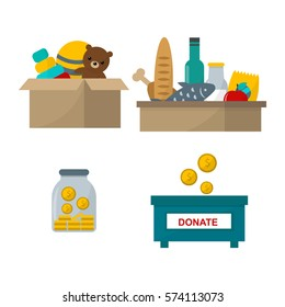 Donate help symbols vector illustration