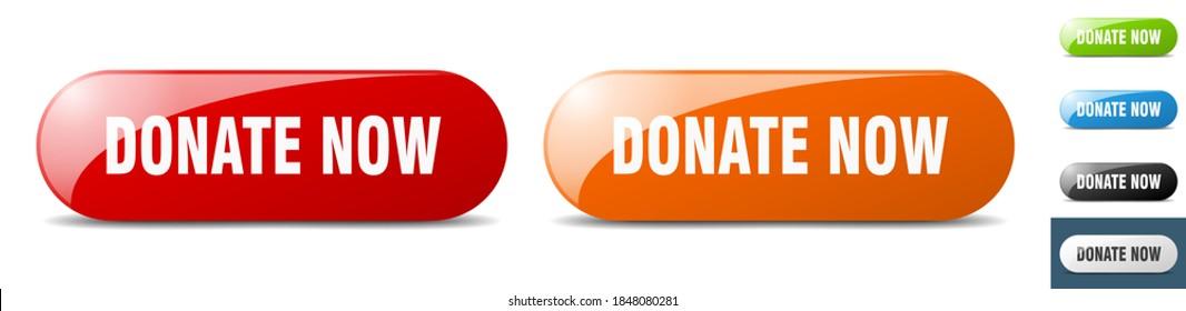 donate now button. sign. key. push button set