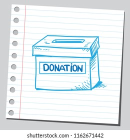 Donation box (sketch style drawing )