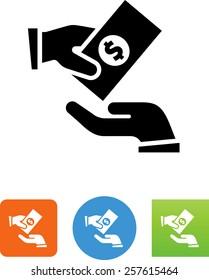 Donation / Handout / Money transfer icon