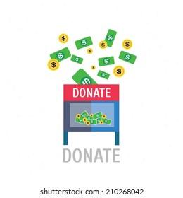 Donation,vector,illustration.