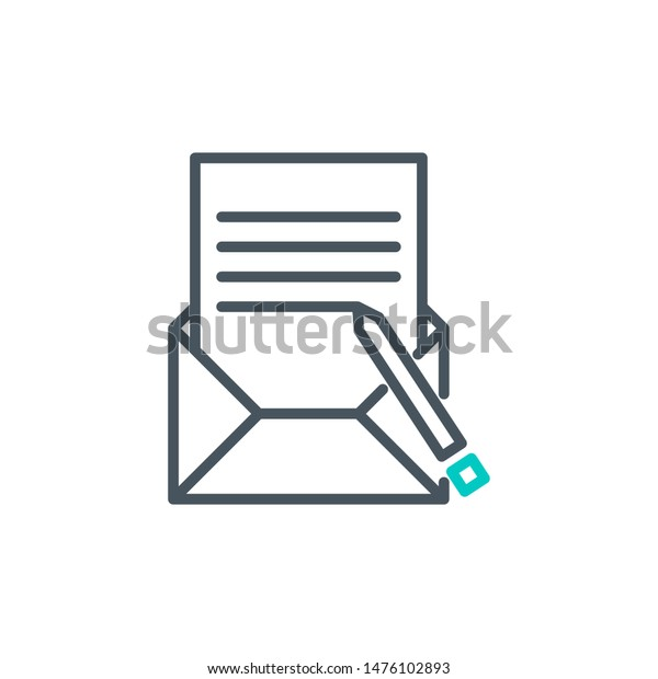 Peachy Done List Document Envelope Outline Flat Stock Vector Pdpeps Interior Chair Design Pdpepsorg